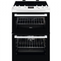 Zanussi ZCV66078WA 60cm Electric Cooker in White Double Oven